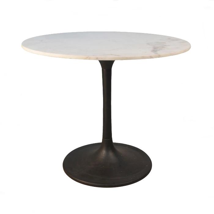 36 Zaha Round Marble Top Dining Table Carolina Chair Table
