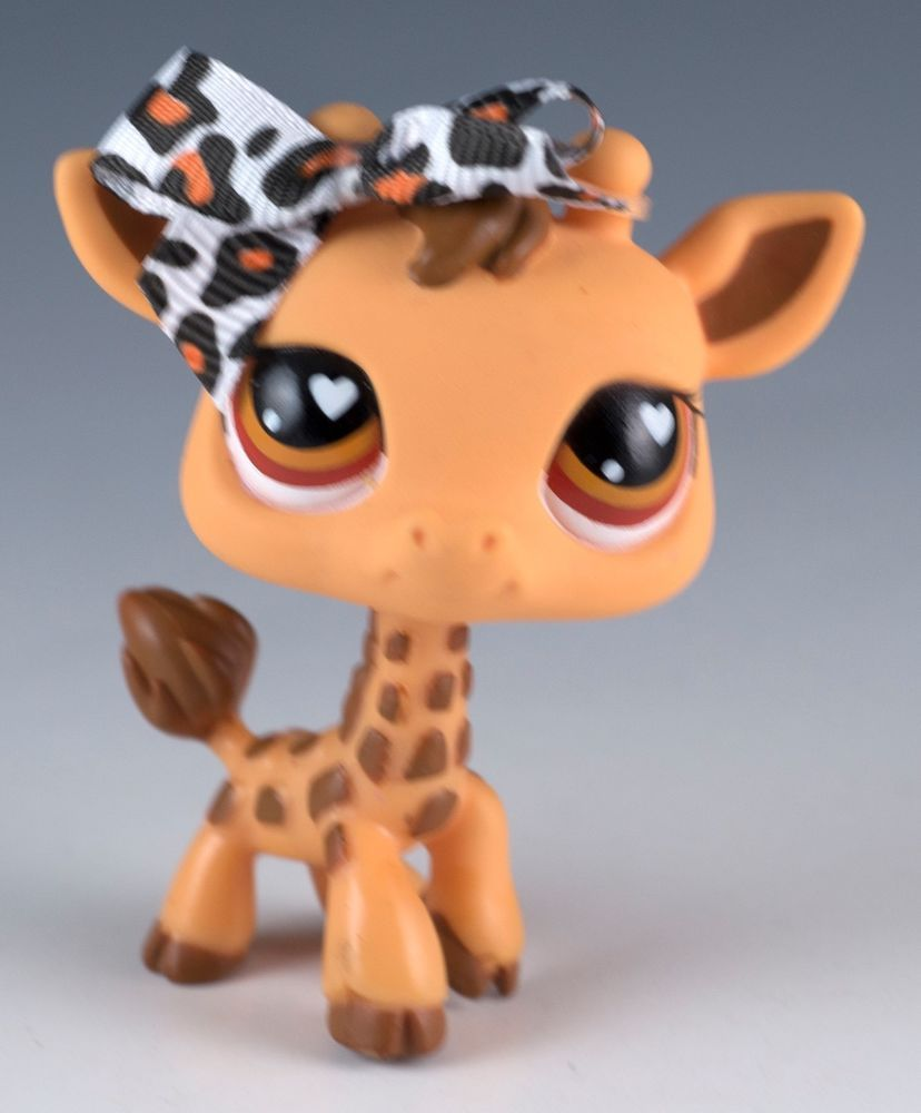Littlest Pet Shop Giraffe #440 Brown and Orange With Orange Eyes #Hasbro