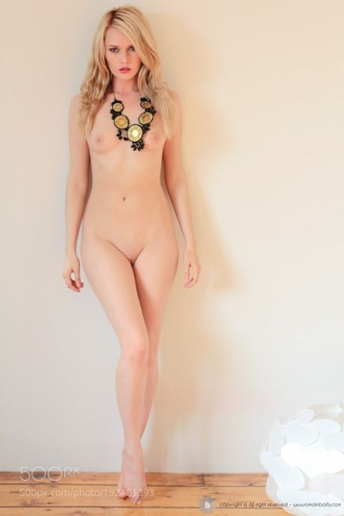 Naked blonde woman nude