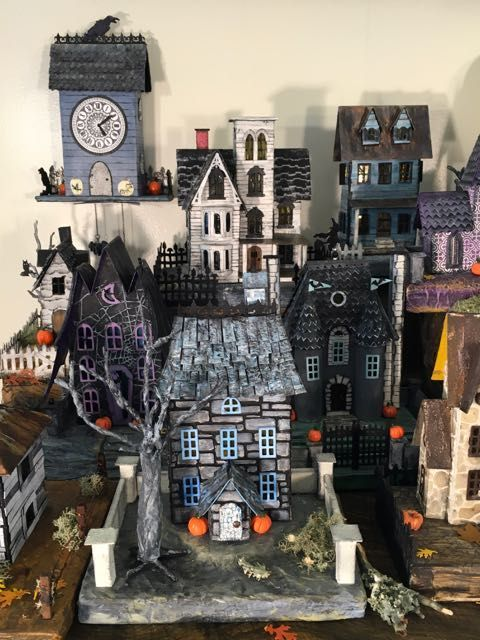 Halloween Village 2017 for Habitat for Humanity - Paper Glitter Glue