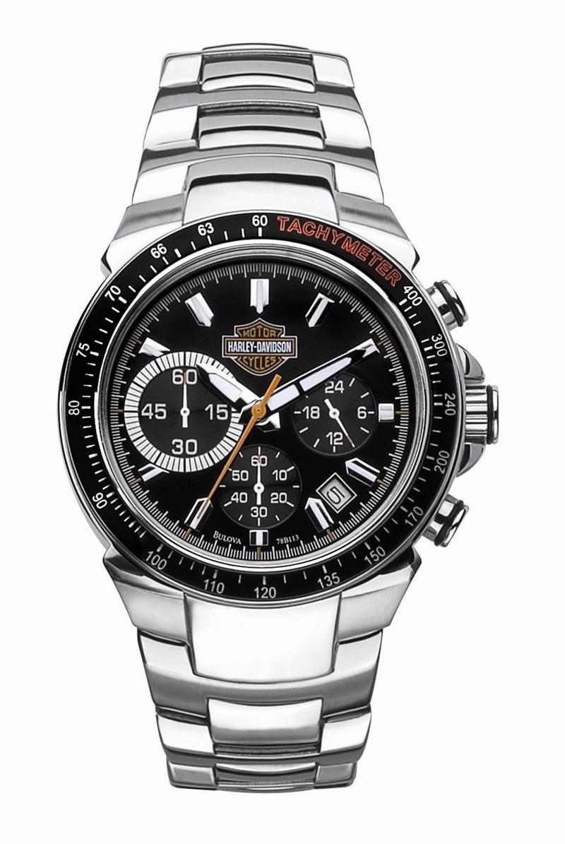 db9086c01a90 Mens Harley Davidson Chronograph Tachymeter Watch by Bulova 78B113-2 ...
