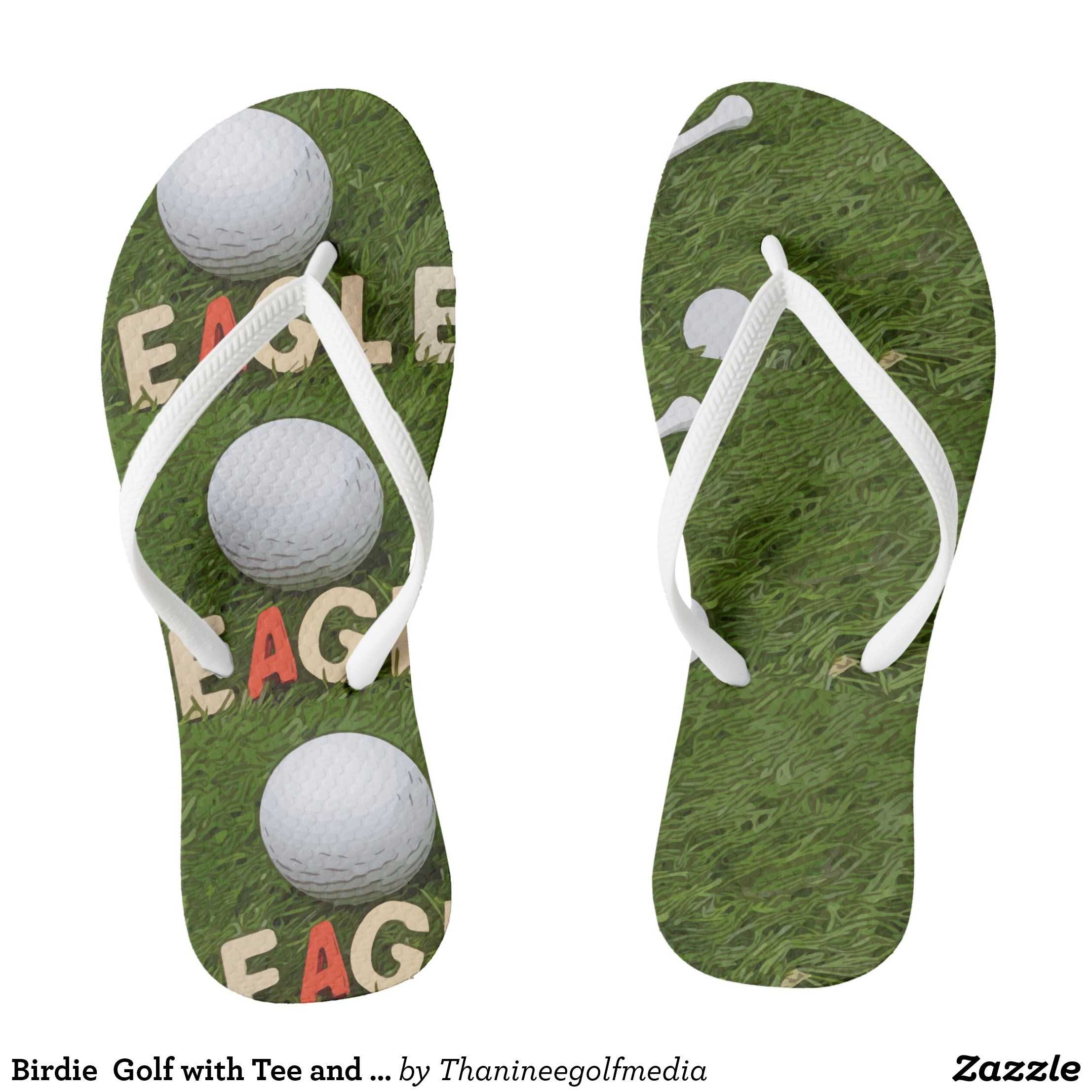 3997adbe2826 Birdie Golf with Tee and Marker Flip Flops - Canvas-Top Rubber-Sole  Athletic Shoes By Talented Fashion And Graphic Designers -  shoes  sneakers   footwear ...