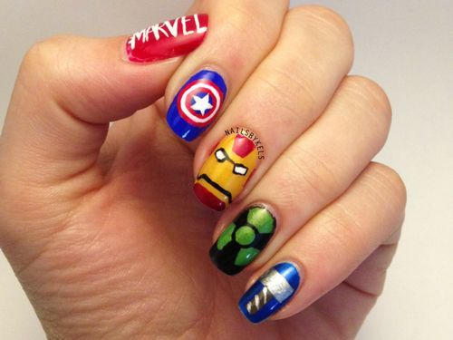 Super hero nail art. Awesome! - Super Hero Nail Art. Awesome! Geeky Nails Pinterest Comic Book
