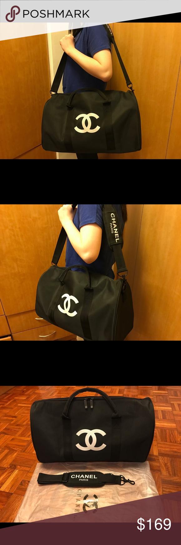 7610da4a6d1d Chanel VIP gift bag cross body travel bag gym bag Authentic 2017 Chanel VIP  gift bag