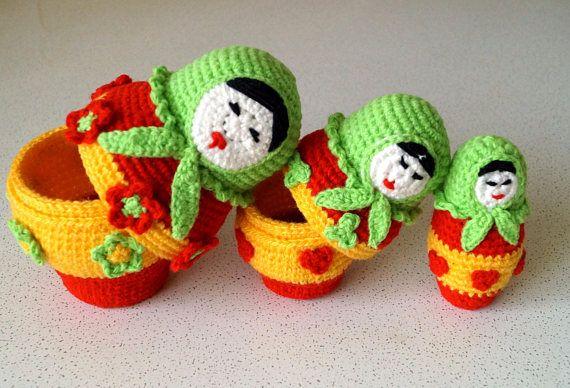CROCHET doll PATTERN crochet amigurumi pattern crochet amigurumi pattern PDF Russian Doll mini doll crochet Crochet Matryoshka Doll