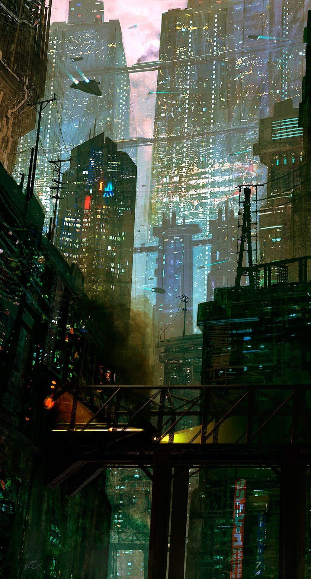 Cyberpunk City Cyberpunk City Sci Fi City Futuristic City