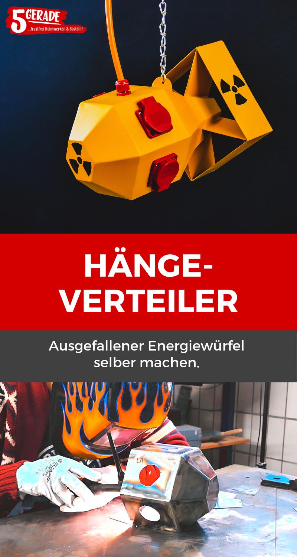 Ausgefallener Hängeverteiler / Energiewürfel für Werkstatt selber bauen