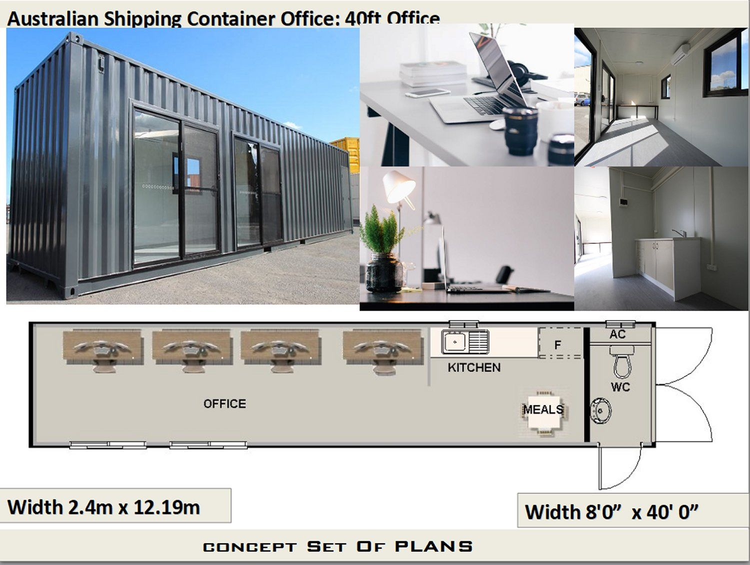 Shipping Container Office Plan Office For A 40 Feet Container Container Office Shipping Container Office Container House Plans