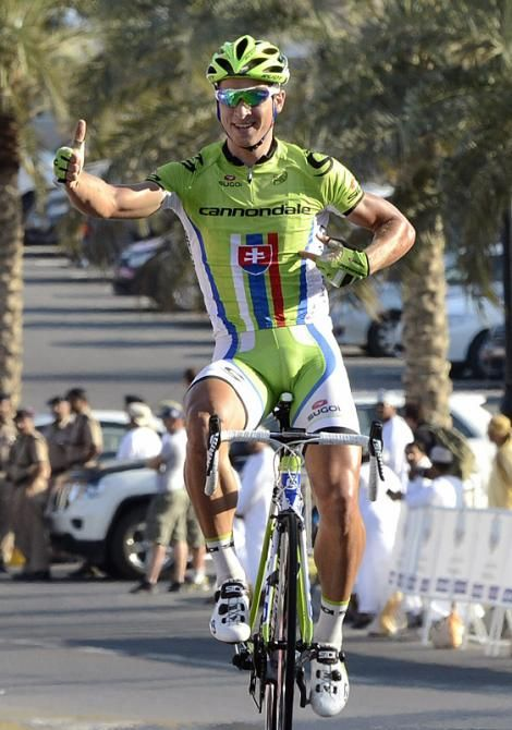 Slovakian champion Peter Sagan (Cannondale) opens his account for 2013 with a stage victory at the Tour of Oman. (Photo: © Bettini)