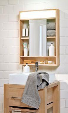 Elegant Ein Spiegelschrank Braucht Licht Und Viel Stauraum. Wir Haben Eine Moderne  Version Aus Holz Selbst Gebaut. Unsere Bauanleitung Zeigt Dir, ...