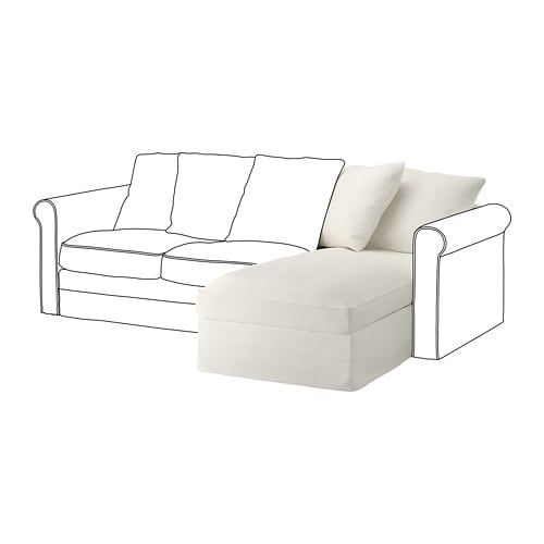 Gronlid Chaise Longue Section Inseros White With Images