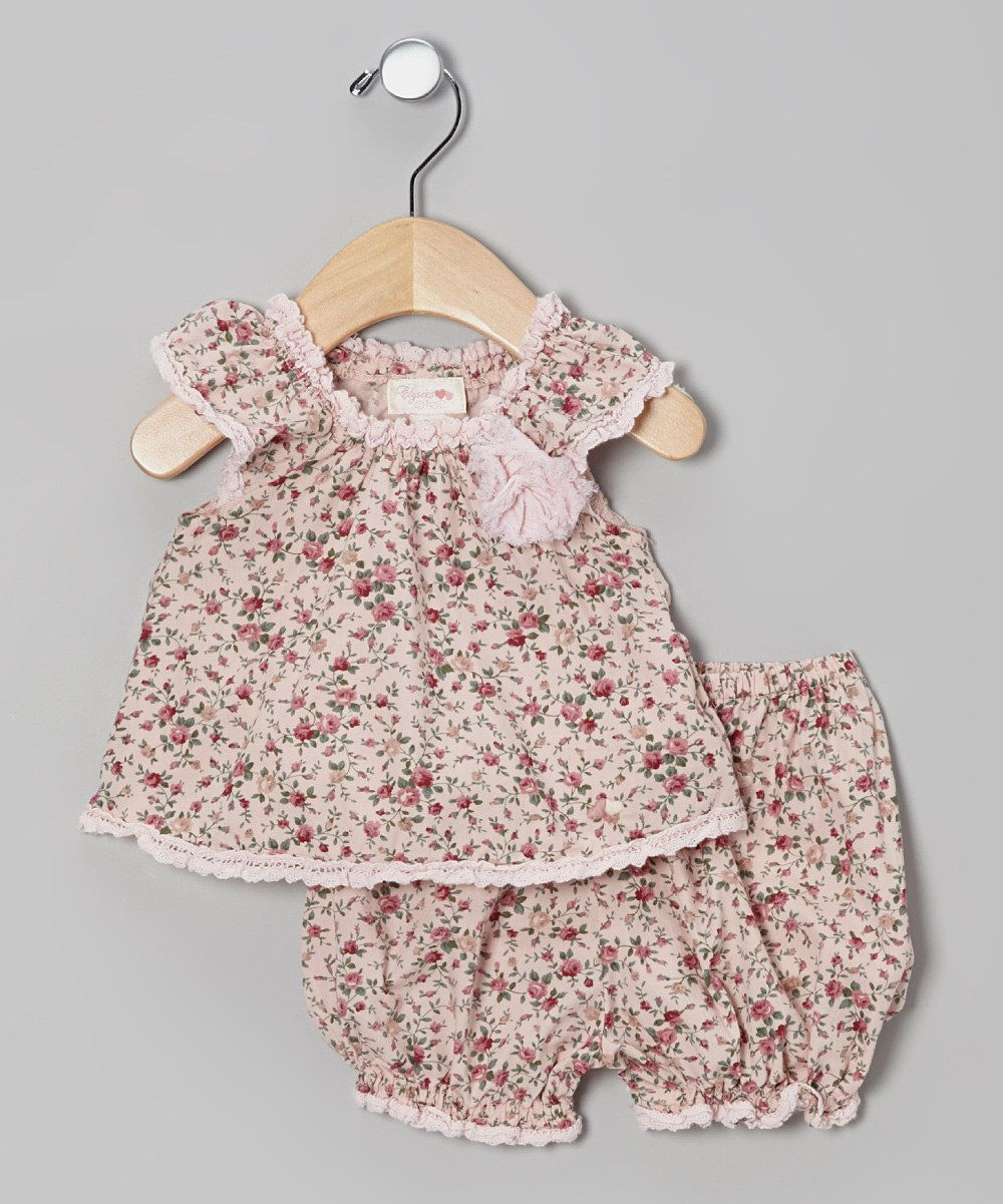 Look what I found on #zulily! Élysées Bébé Pink Floral Swing Top & Bloomers - Infant by Élysées Bébé #zulilyfinds