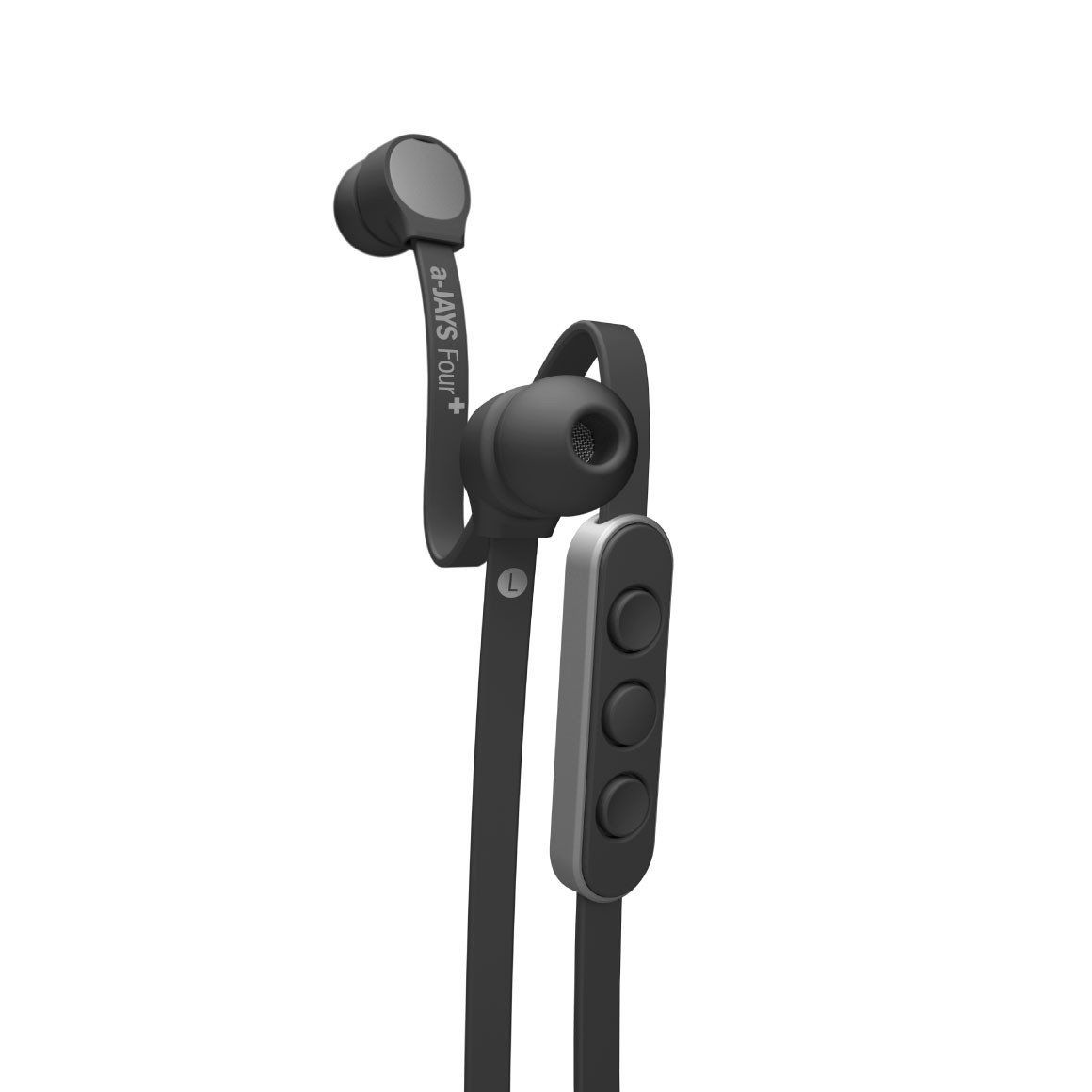 JAYS a-JAYS Five Earphones for Android /& Windows  Black Noise Isolating Earphone