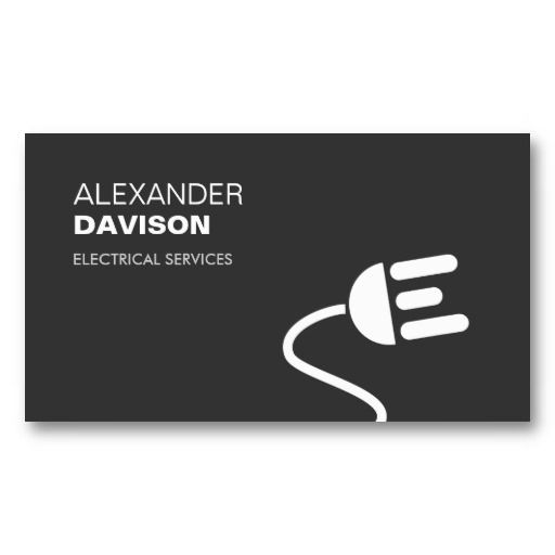 Electrician logo modern business card i pinterest business cards electrician logo modern business card i reheart Images