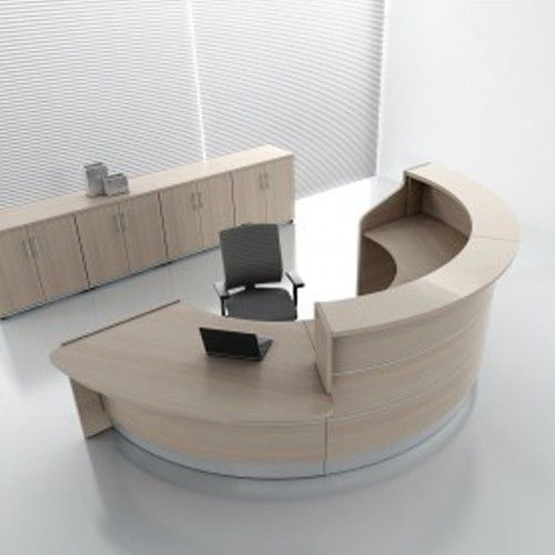 Valencia Semi Circular Reception Desk Front Round Reception