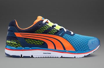 Puma Faas 500 v3 - Mens Running Shoes - Insignia Blue-Metallic  Blue-Flourescent Peach-Flourescent c5e4114b4