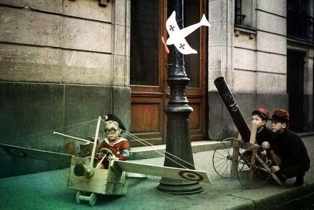 Les autochromes parisiens de Léon Gimpel leon gimpel grenata armee enfant autochrome