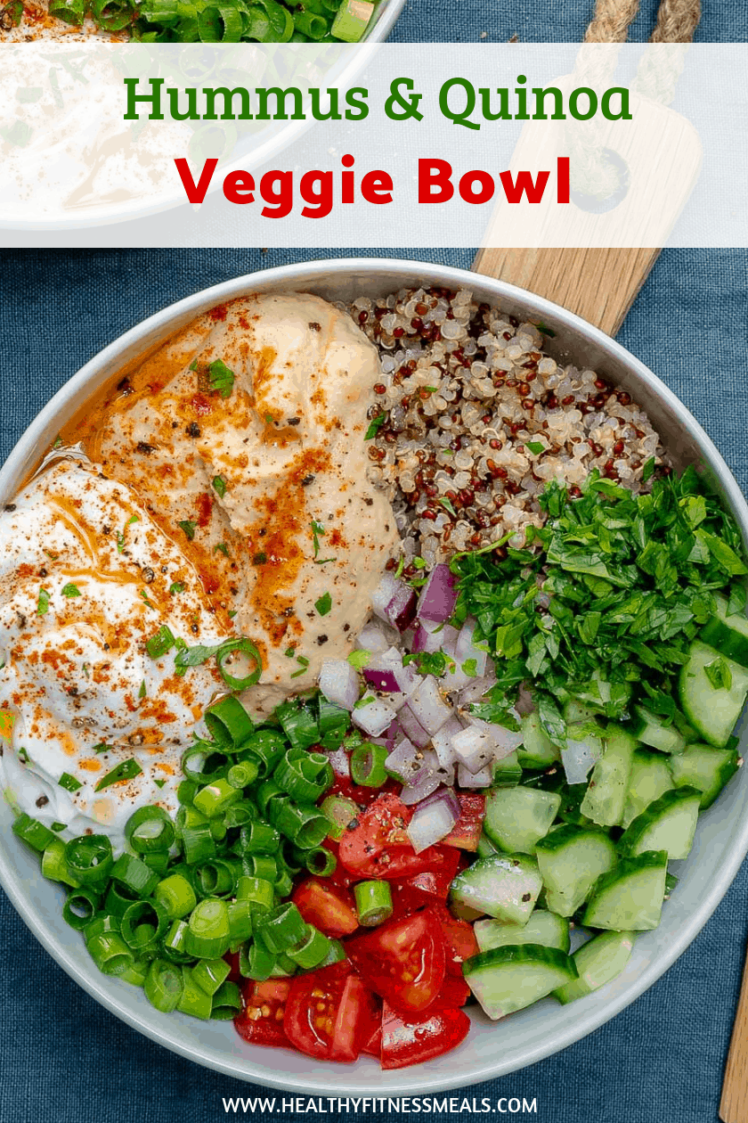 Photo of Hummus Quinoa Veggie Bowl