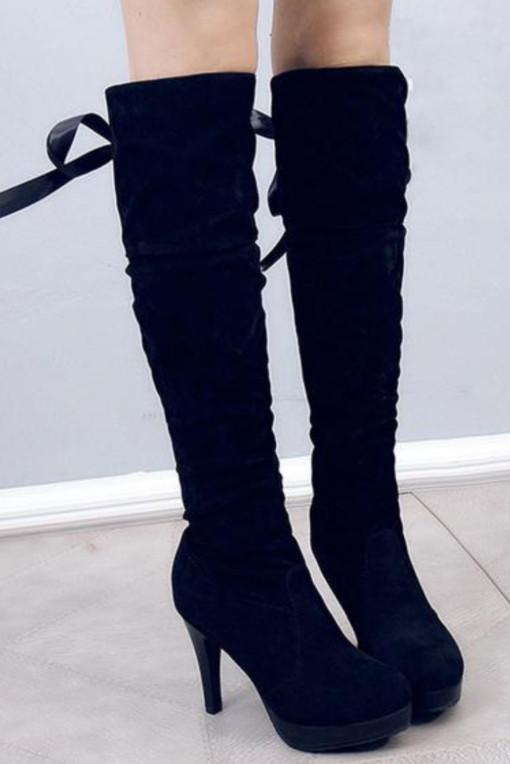 6e118bacfa1 These are the perfect above the knee boots to complete any women s high  heels ...