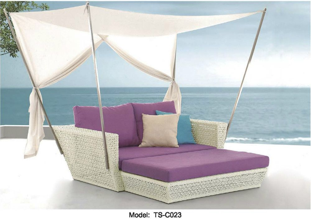Purple Patio Furniture | Red Purple Cushion Outdoor Patio Sofa Lounge  Canopy Day Bed Furniture .