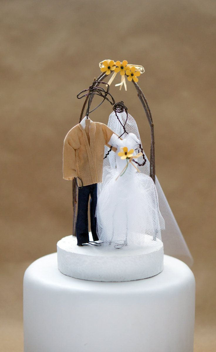Cowboy and bride wedding cake topper Country wedding cake topper