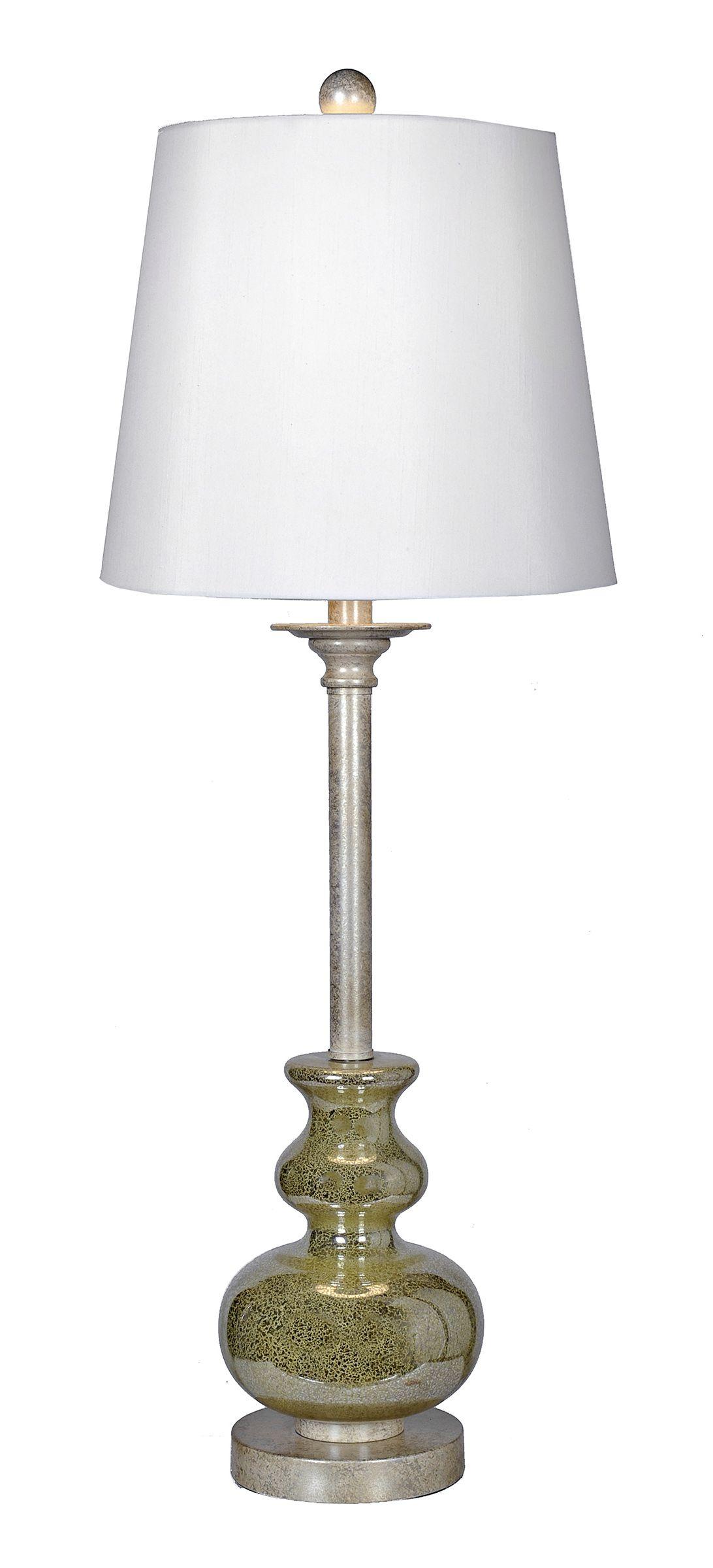 Hess Gold Mercury Glass Buffet Lamp Mercury Glass