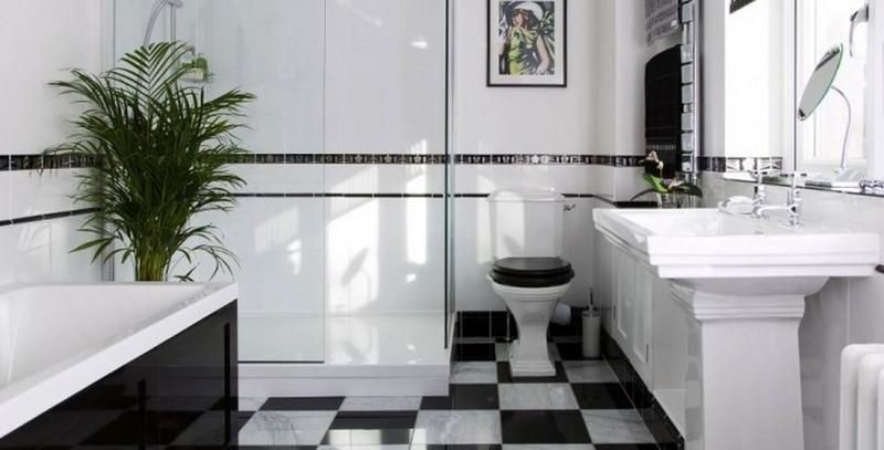 ... Art Deco Black and White Bathroom Fresh Art Deco Bathroom Floor Tiles  Gallery Home Flooring Design ...