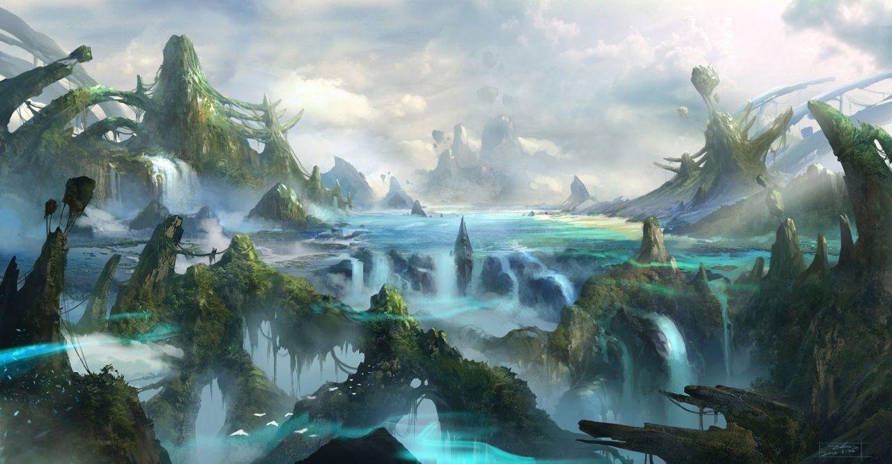 Fonds D Ecran Monde Fantastique Fantasy Image 321469 Telecharger Paysage Fantastique Monde Fantastique Fond Ecran Nature