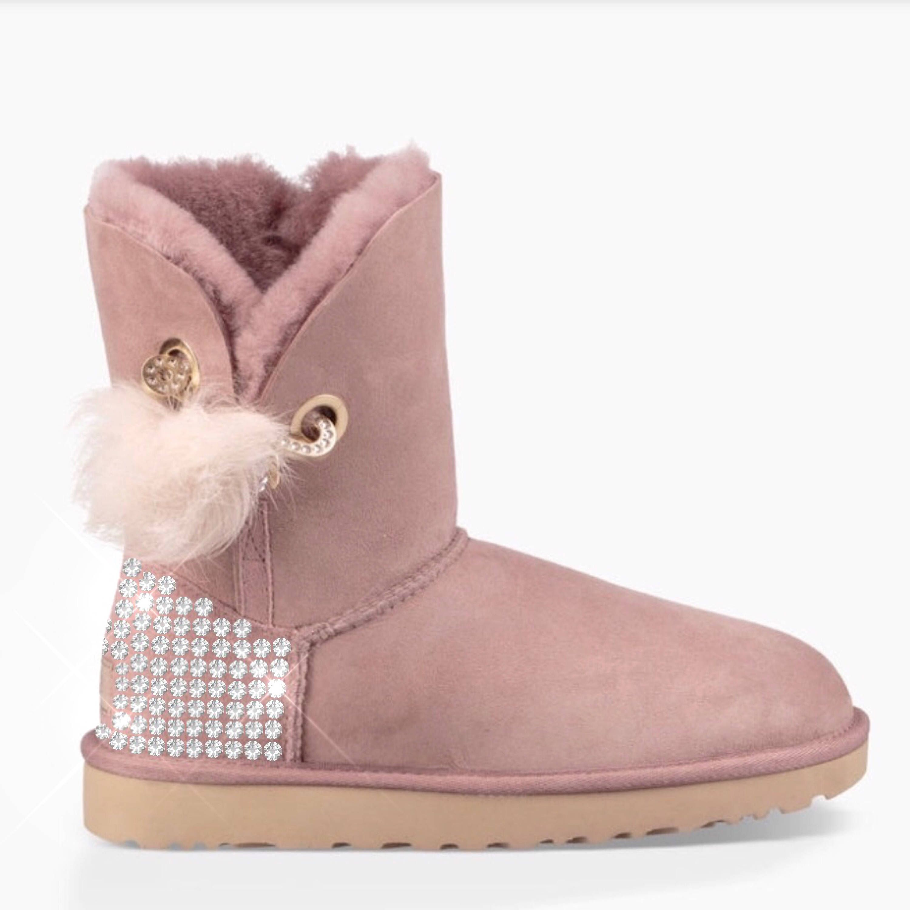 Bling UGG boots- crystal UGG boots- gray ugg boots - pink uggs boots-