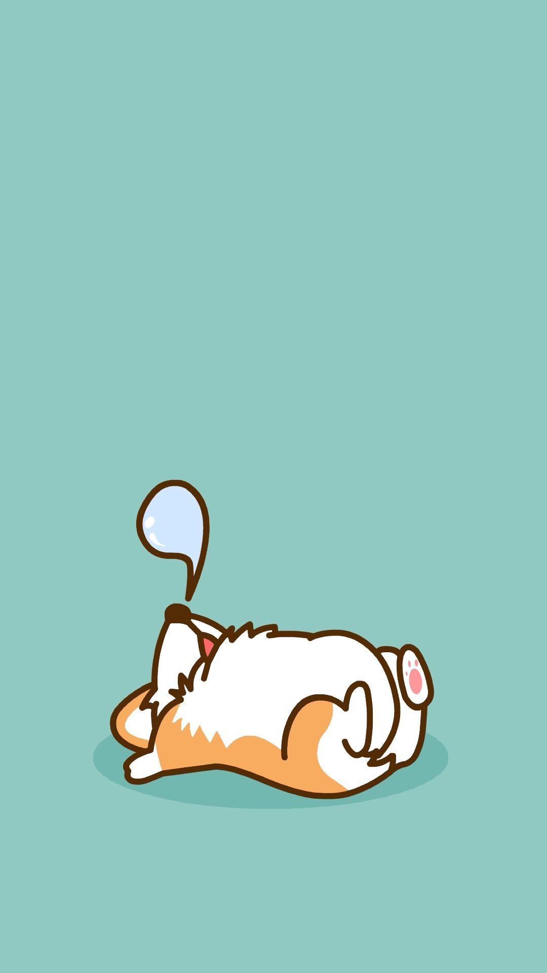 Pin By Pauline Sy On Wallpapers Dog Wallpaper Iphone Corgi Wallpaper Cute Cartoon Wallpapers