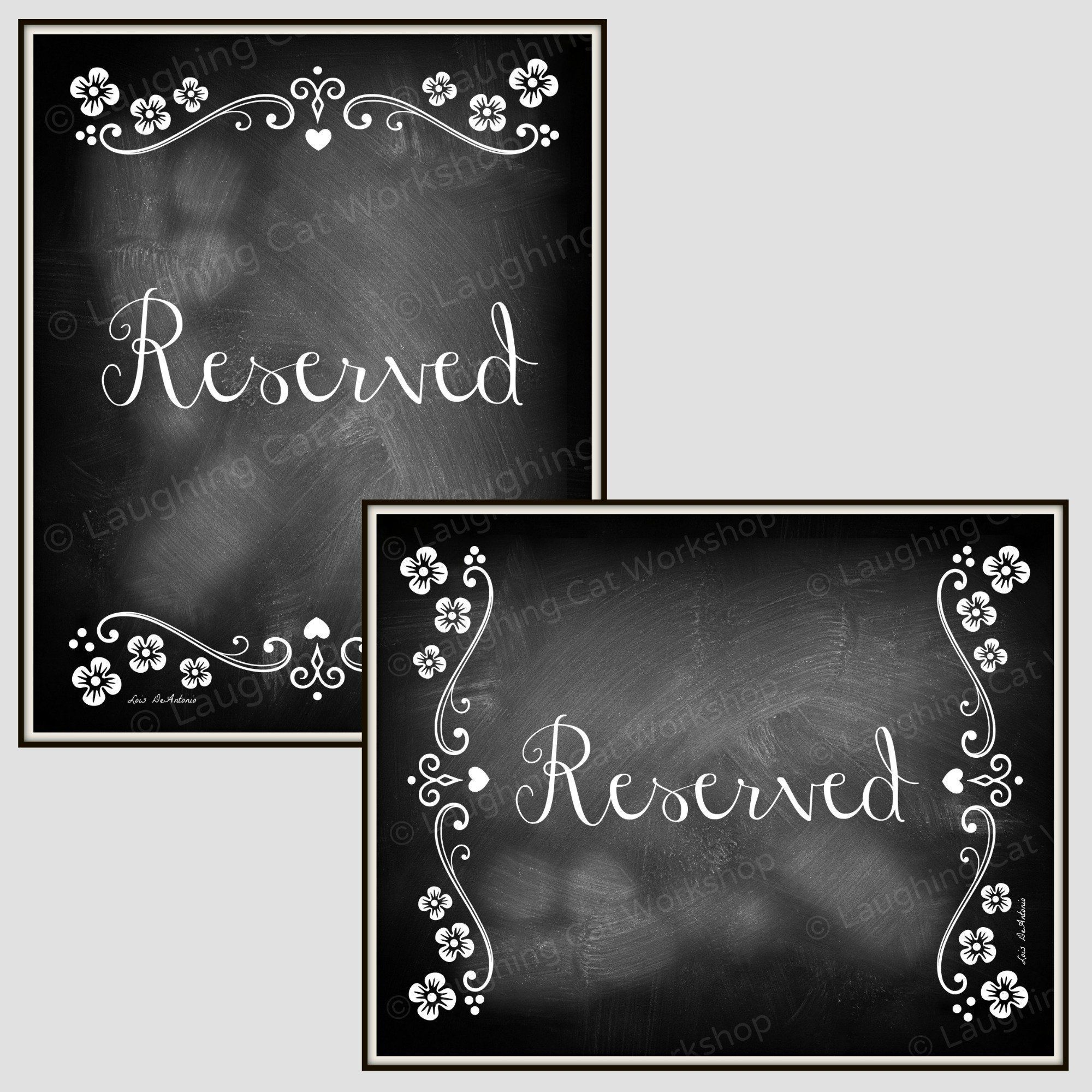 Slate blue wedding decor  Wedding Reserved decor Chalkboard Style Wedding Table Decor Rustic