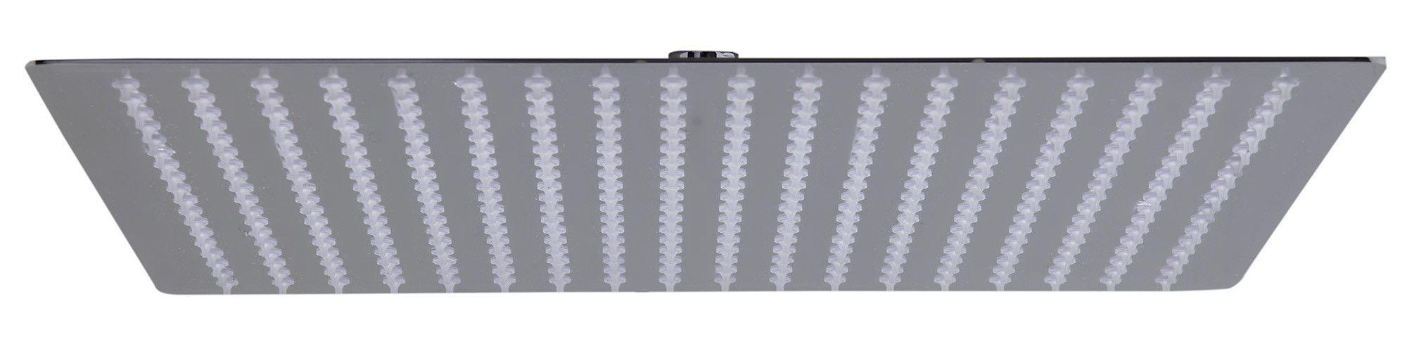 "ALFI brand RAIN16S-PSS Solid Polished Stainless Steel 16"" Square Ultra Thin Rain Shower Head"
