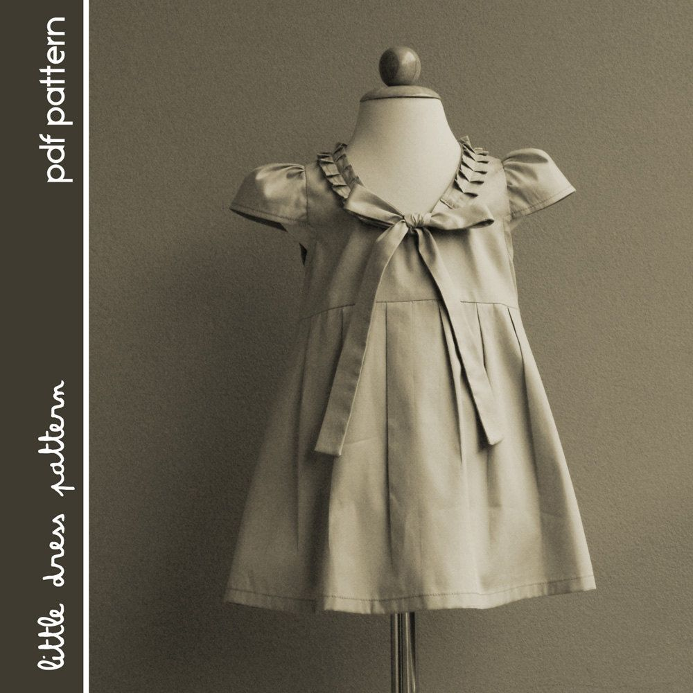 Stella dress pdf pattern size months to years old and