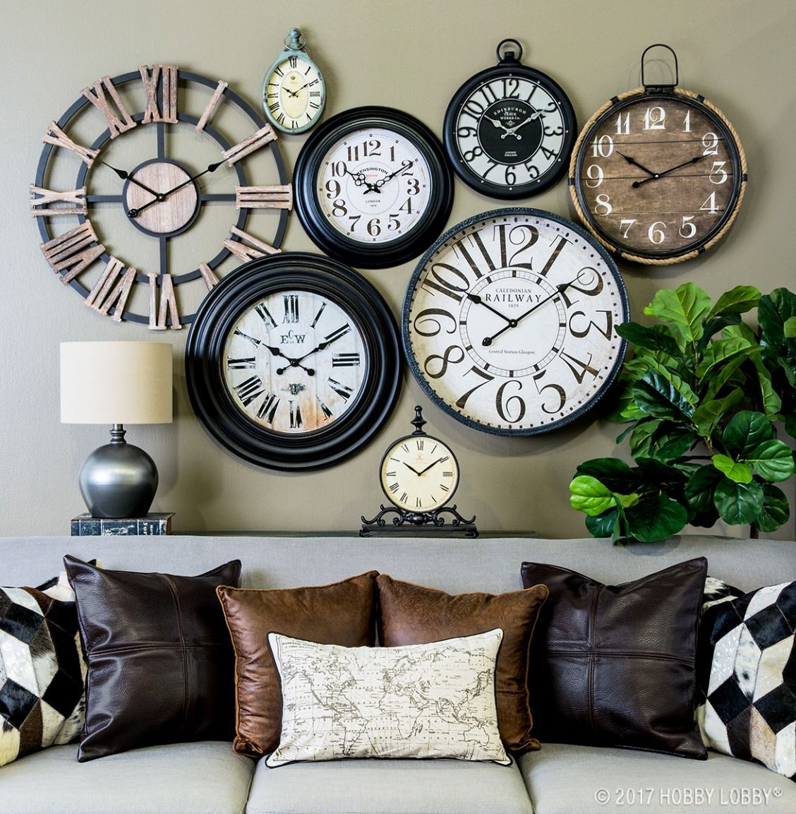 Time Is On Your Side When It Comes To Perfecting Your Decor Add Instant Inspiration To Any Room With A Gallery Wall Of Home Clock Clock Decor Clock Wall Decor