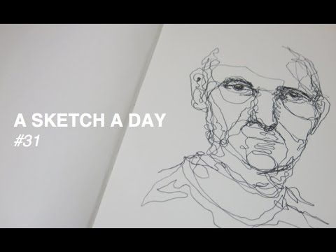 Line Drawing Of Child S Face : Continuous line drawing of a man final reference images