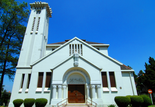 Gereja Bethel :  on Wastukancana Street was designed by architect Prof. C.P. Wolff Schoemaker and constructed in 1925. It is listed by Bandung Society for Heritage Conservation (Paguyuban Pelestarian Budaya Bandung) and the Bandung municipal government as one of Bandung's colonial architectural heritage buildings.