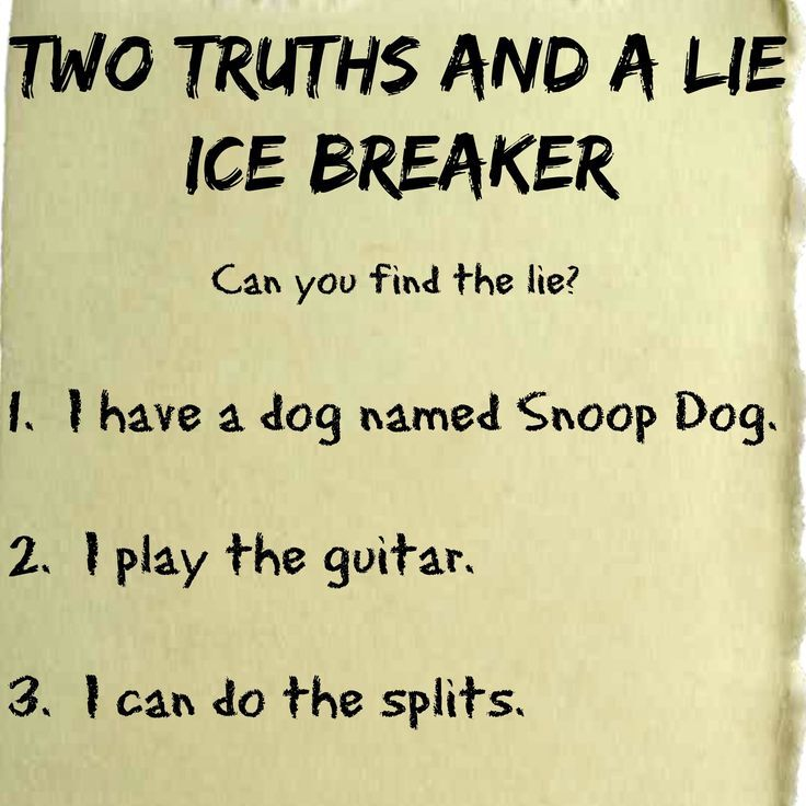 How to Play 2 Truths and a Lie - ThoughtCo