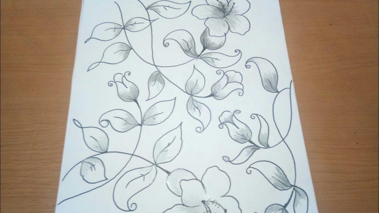 Sketsa Bunga Untuk Batik Sangat Mudah Dan Cantik