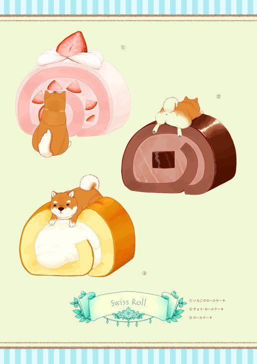 Twitter キュートなアート 動物 食品の描画