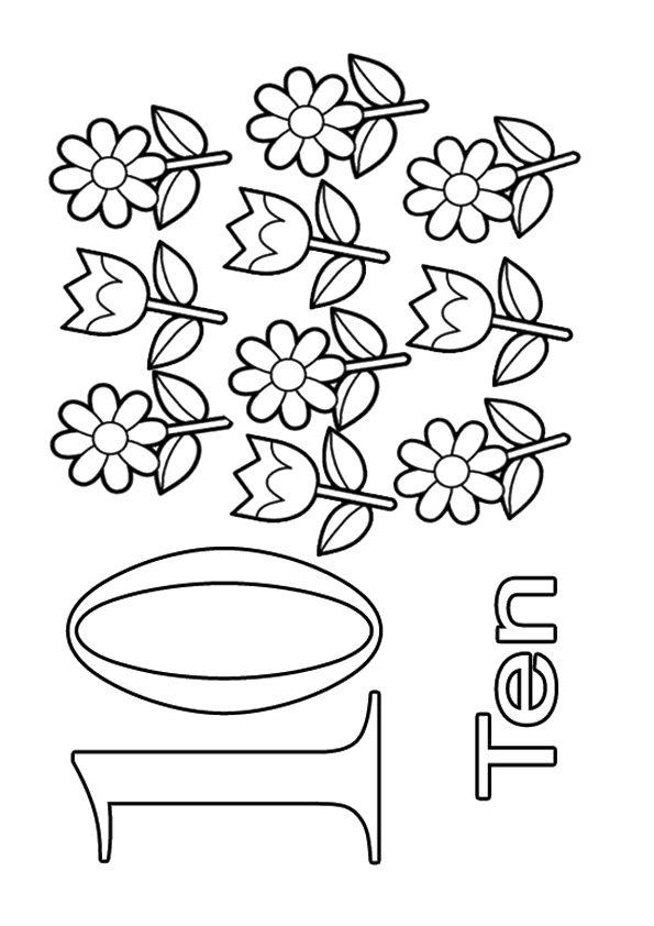 print coloring image | Pinterest | Zahlen, Feinmotorik und Vorschule