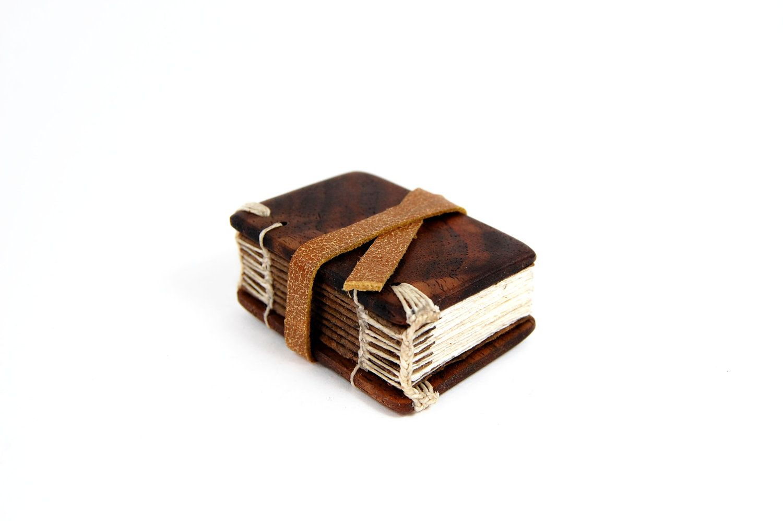 black walnut  mini journal