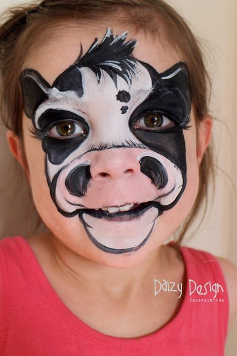 cow face paint - Google Search | Face Painting | Cow face