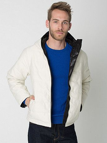 Winged Foot Reversible Hooded Fleece Poly-Fill Jacket | American Apparel