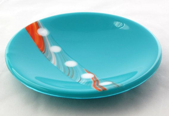 Beautiful 8 fused glass bowl inspired by the beauty of the southwest. This bowl can be used for serving, but its also a beautiful piece to add to any home decor. It sits nicely without the stand, but can also be ordered with the stand. Hand-washing is highly recommended. Not intended for oven or microwave use. All fused glass art is crafted by me in my home studio. During each phase of firing the glass is carefully annealed to ensure it is durable as well as beautiful. Keep in mind that…