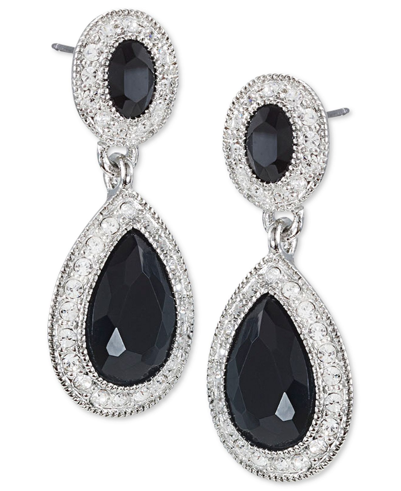 fashion drops earrings s givenchy jewelry watches macy silvertone crystal bridal pin