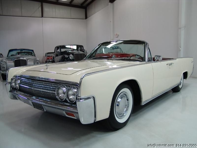 1963 Lincoln Continental Convertible Oxford White With Deep Red Leather Interior And Black Top Lincoln Continental Dream Cars My Dream Car