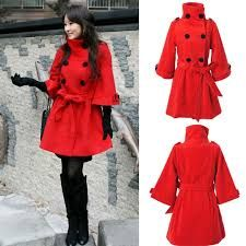De Para Rojo Cachemir Resultado Imagen Mujer Abrigo Fashion FdawcqT