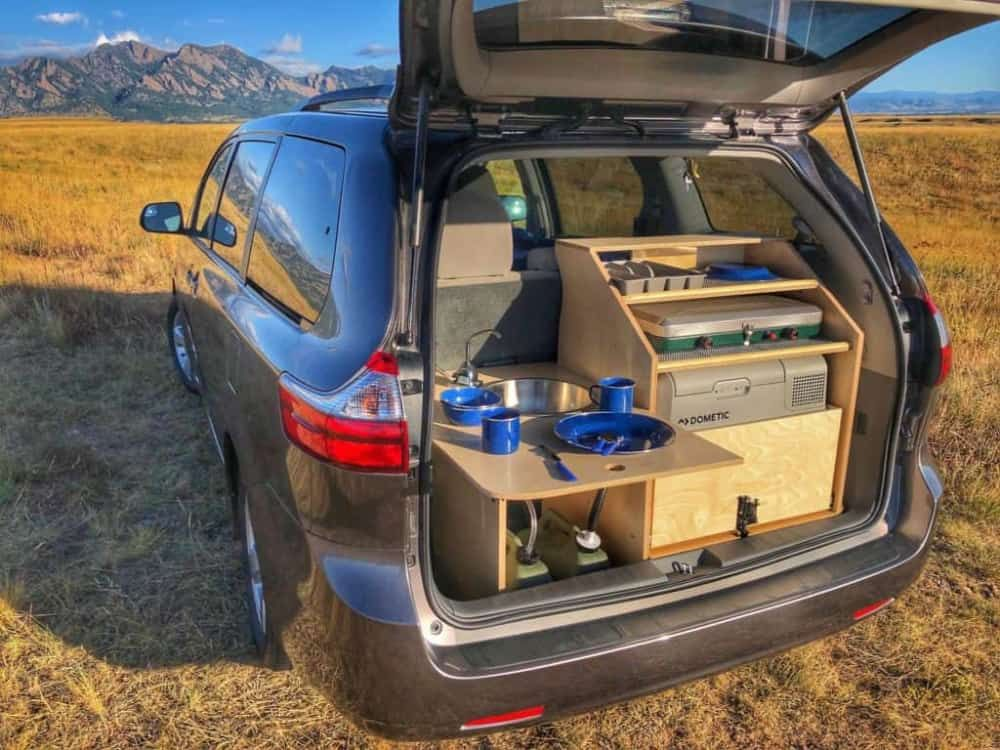8 Incredible Minivan Campers You Have To See Camper Conversion Minivan Camper Conversion Mini Van