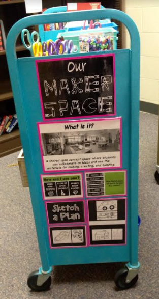 In August, I shared the wonderful story of my sister Heather's plan to turn one of the old book carts into a Makerspace for her students i... #libraryideas