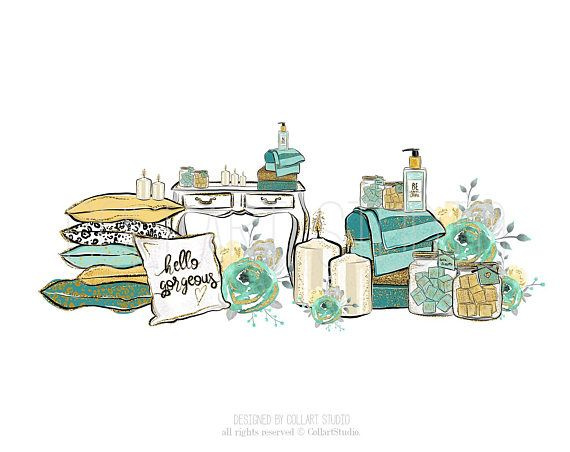 spa clipart wellness illustration relax time clipart